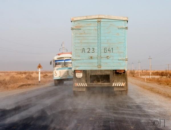 Uzbekistan. The road to Aral