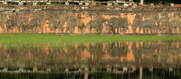 Cambodia. Angkor. Terrace of Elephants.