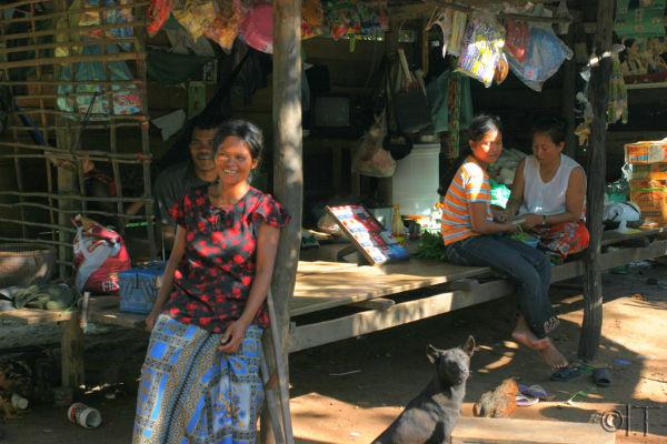Cambodia. Souvenir sellers.