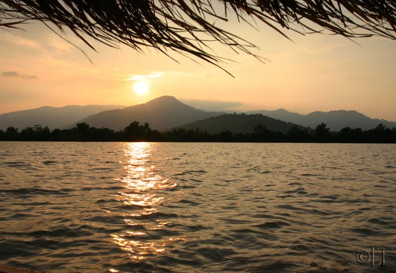 Cambodia. Kampot. Sunset.