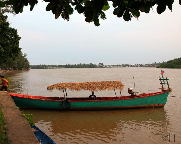 Cambodia. Kampot. After sunset.