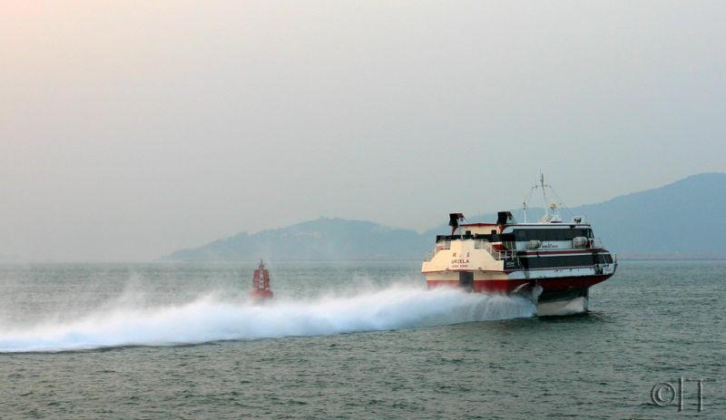 Hong Kong. Hydrofoil from Macau.
