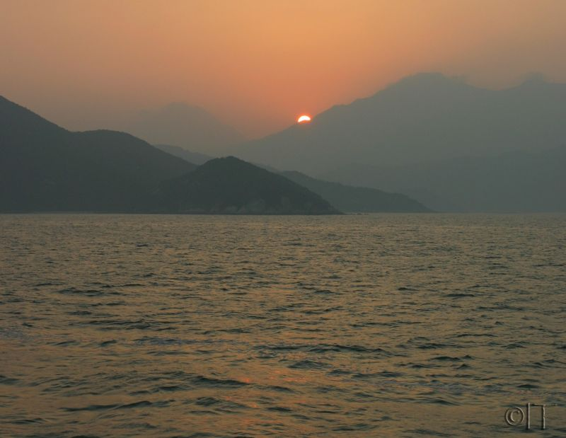 Hong Kong. Sunset.