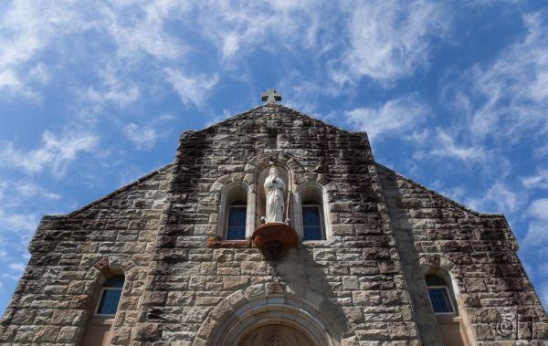 Church facade. Watsons Bay. Australia.