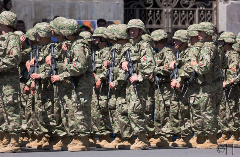 Georgia. Tblisi. Military Parade.