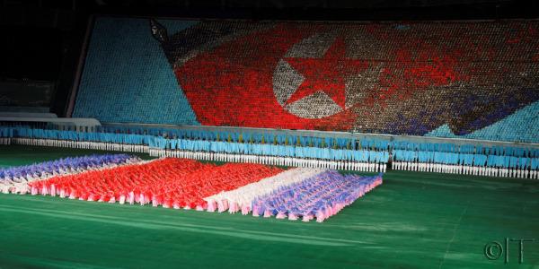 North Korea. Mass games.
