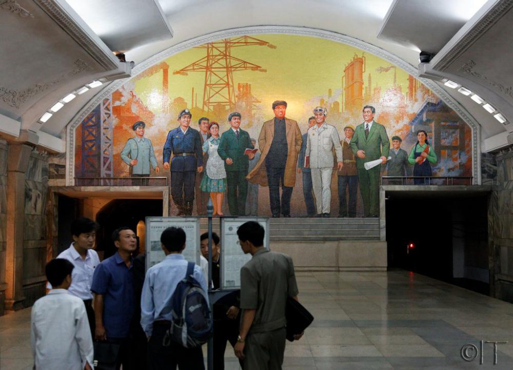 North Korea. Pyongyang Metro.