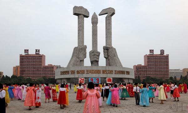North Korea. Pyongyang. Mass Dance
