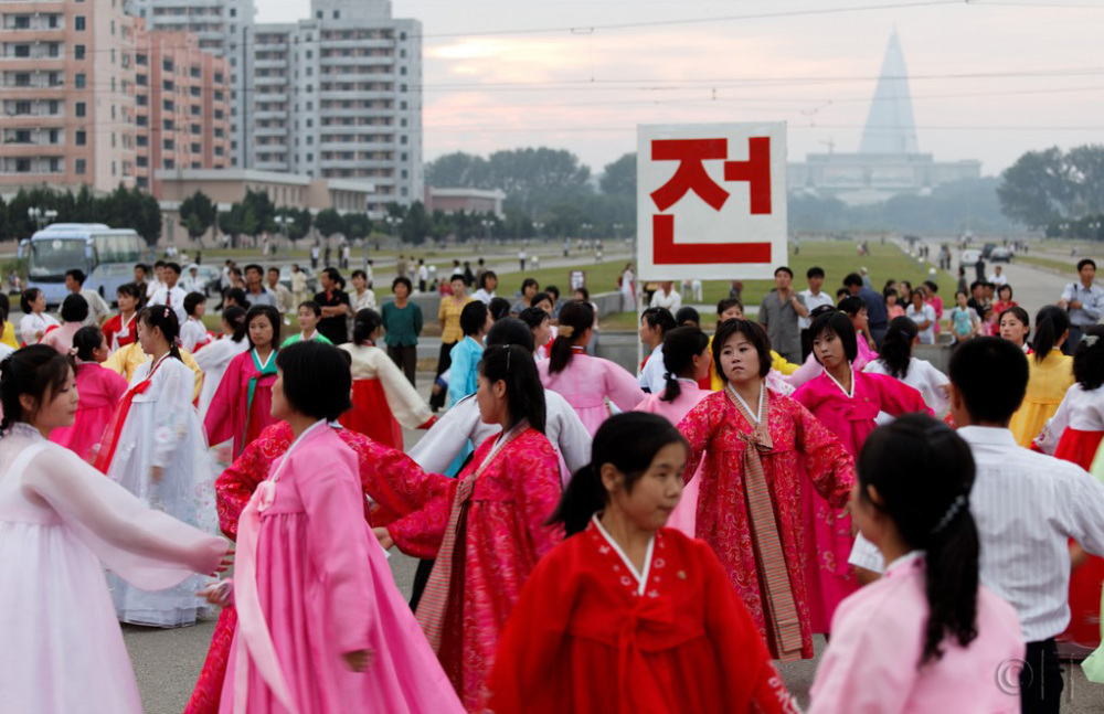 North Korea. Pyongyang. Mass Dance