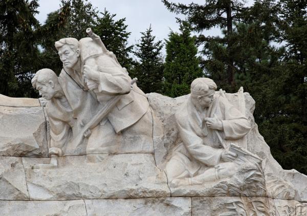 North Korea. Revolutionary Martiyr's Cemetery.