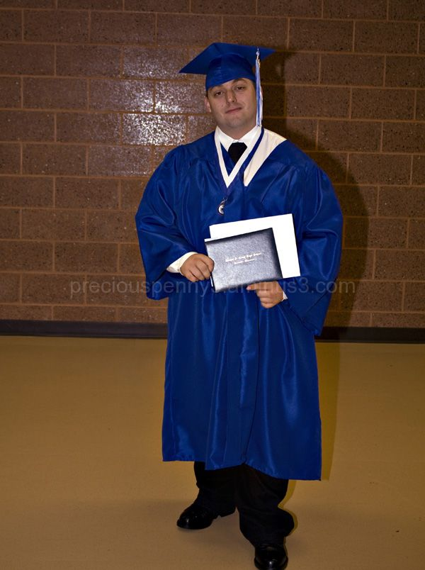 John with his diploma
