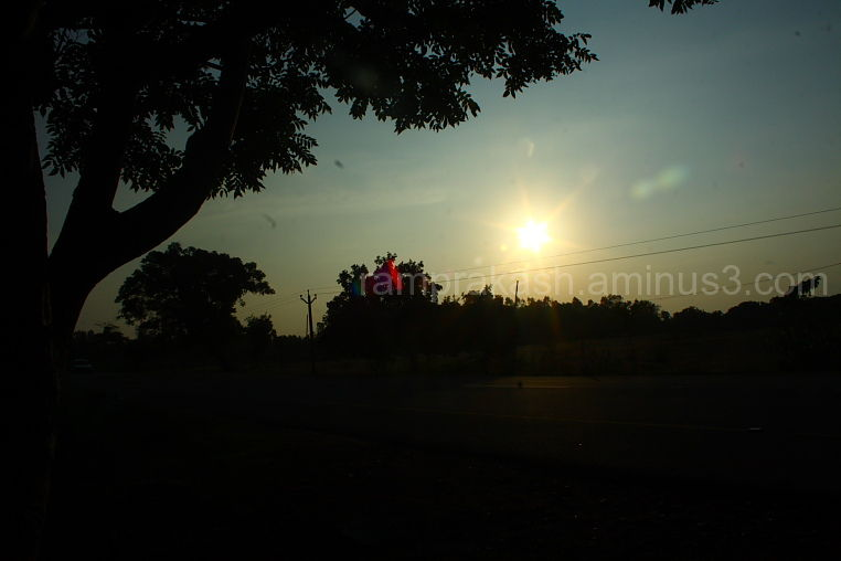 a normal sunset