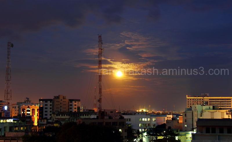 some times moon too shines like sun...