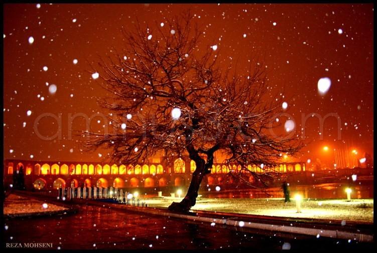 khaju in snow