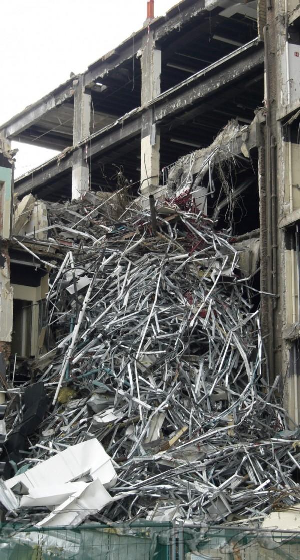 building desmantled