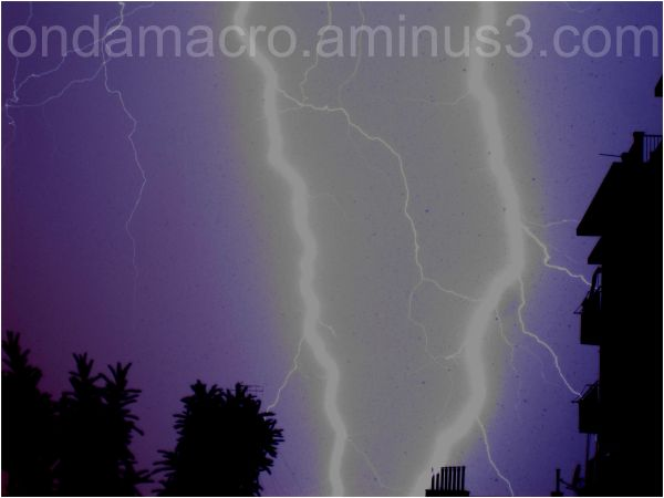 lightning in a storm near home