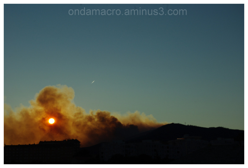 forest fire in December 2011, Italy