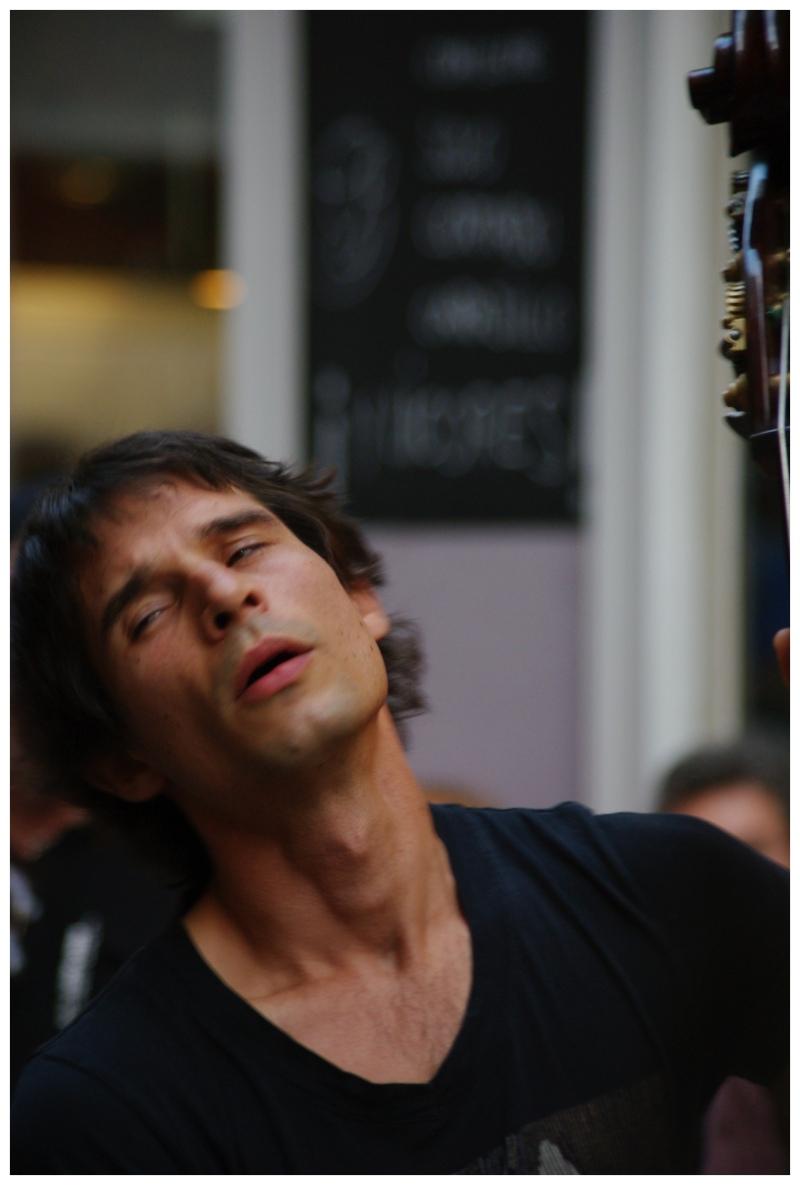 Payazen street concert, double bass