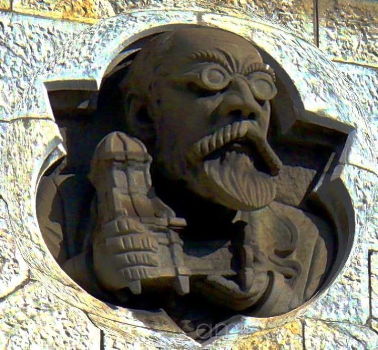 Bust in wall Zurich