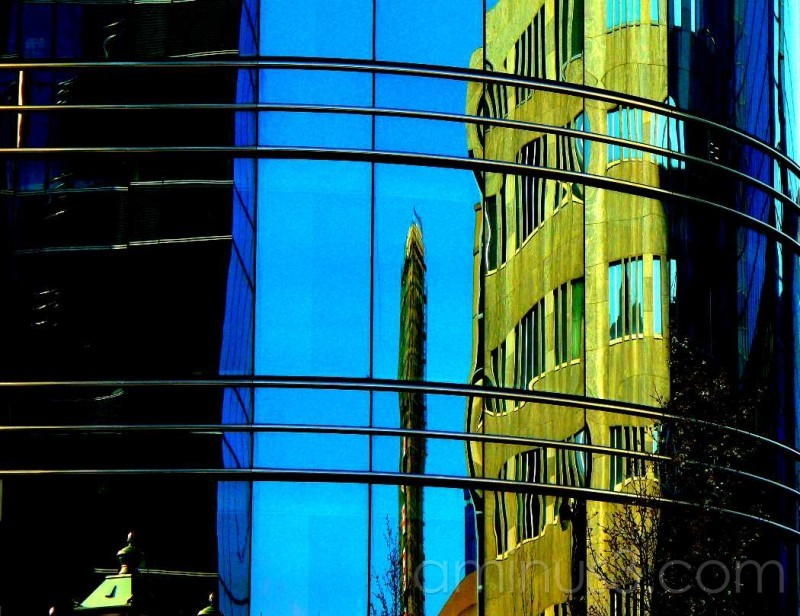 Building reflected in building