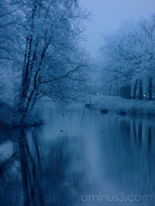frozen canal Breda netherlands Winter 2007