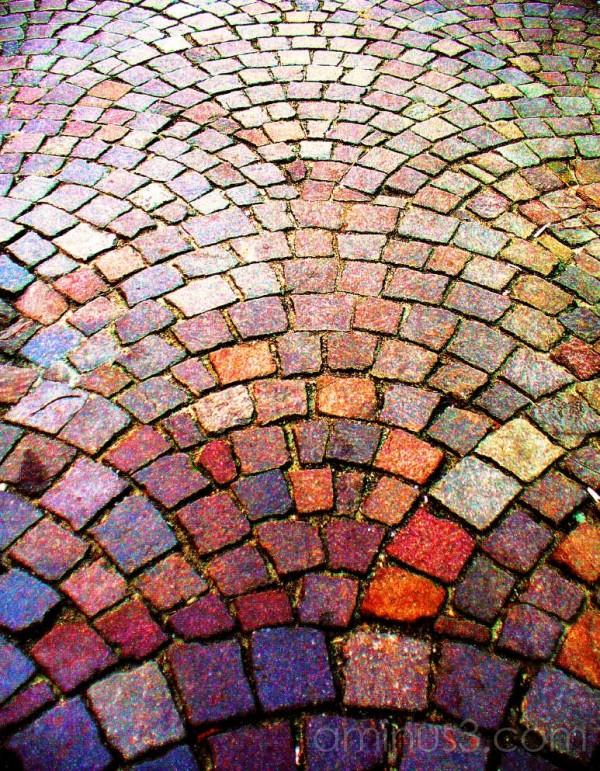 colourful cobblestones