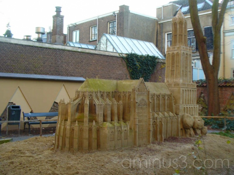 model cathedral in sand
