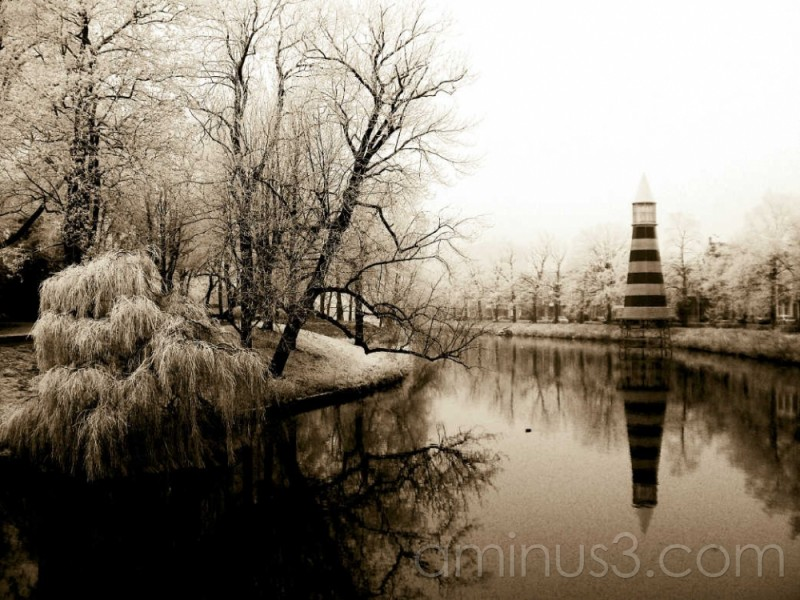 frozen canal Breda Netherlands