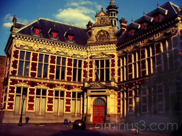 Man in front of building Utrecht