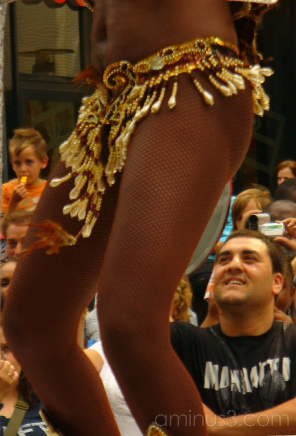 Carnival participant attracting attention