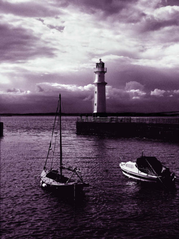 NewHaven Kay Edinburgh  late afternoon with boats