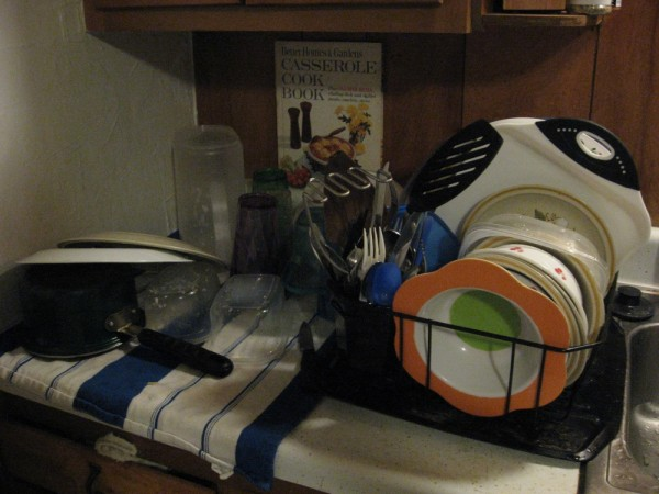 I did some of the dishes...