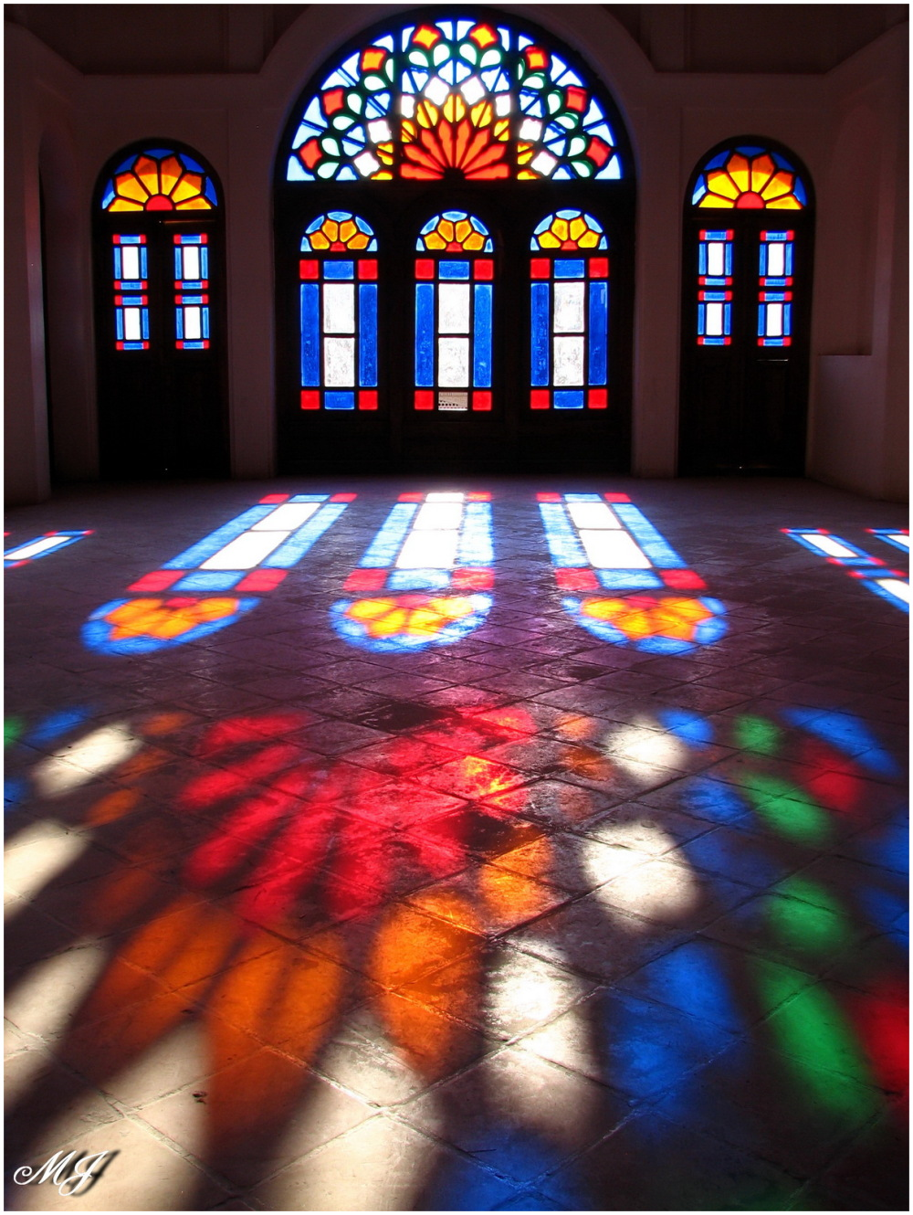 Light colorful windows perspective