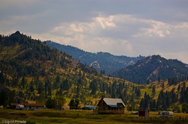 A cabin nestled amongst the beautiful Rockies