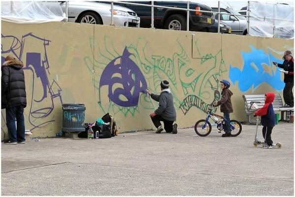 Bondi graffiti artists