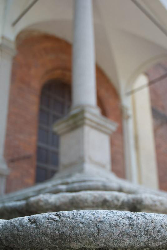 Stairs in Morimondo abbey, Italy