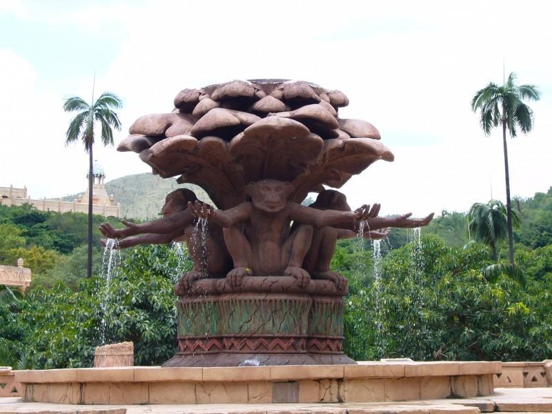 Monkey fountain in SUn City, SA.