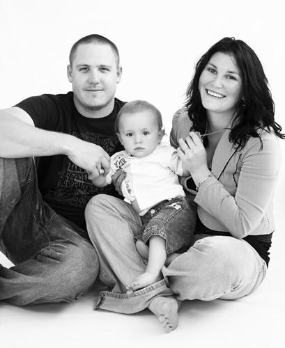 Three person family