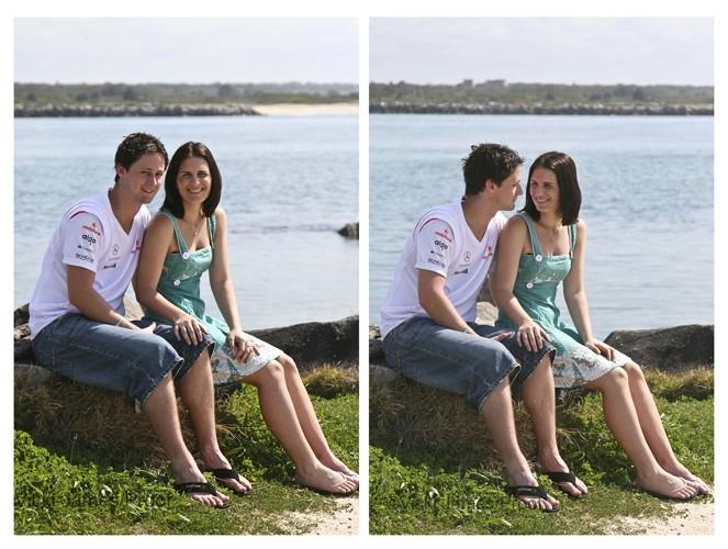 couple sitting together on raocks