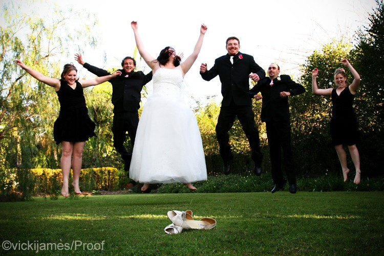 Bridal Party cutting loose!