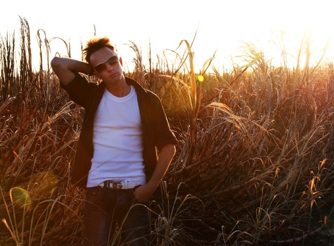 Lachlan in the cane fields