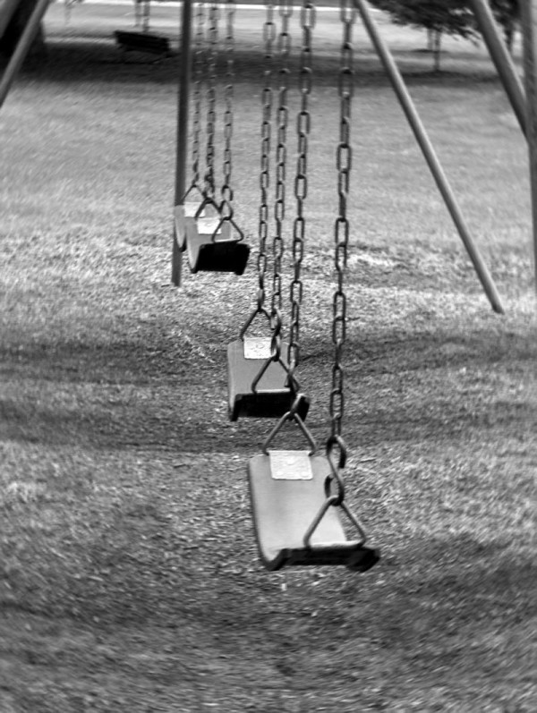 Empty swings at Southside Park, Newton, NC