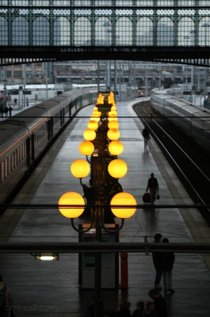 Gare du Nord Paris Twilight