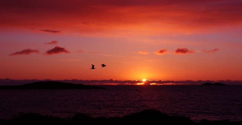 Sunset at Gossen, Norway