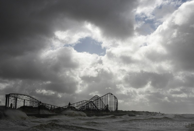 High tide on Blackpool South Pier