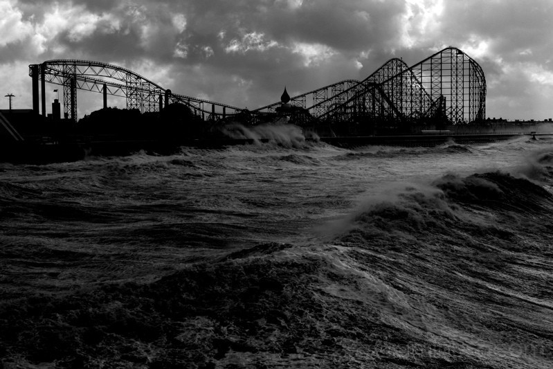 Pleasure Beach from Blackpool South Pier