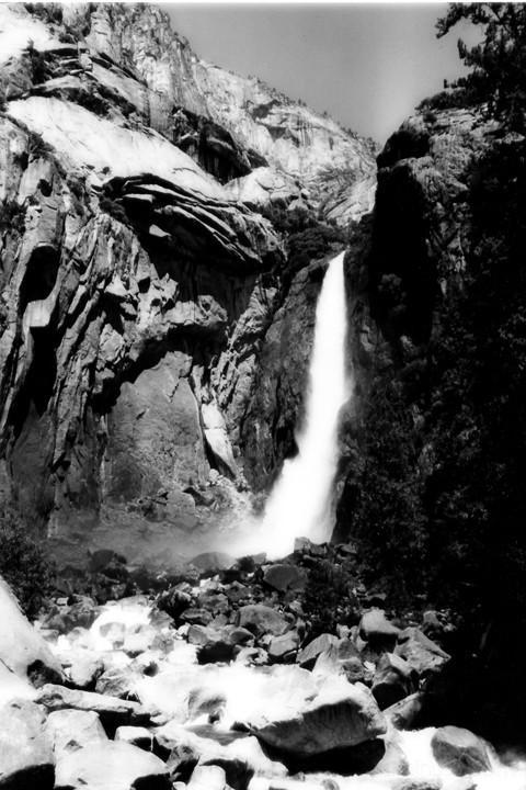 A Waterfall at Yosemite National Park
