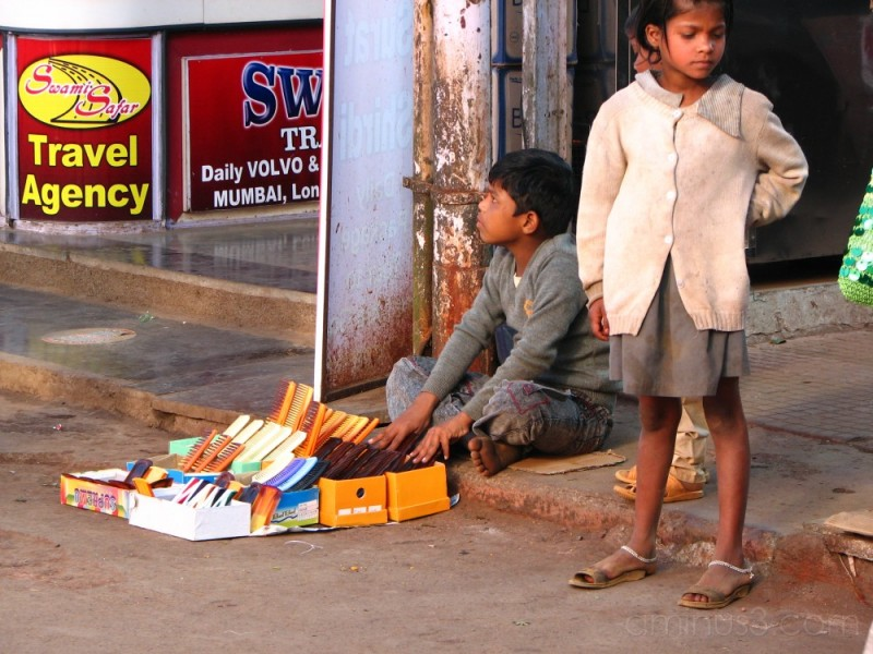 Kid on Mahabaleshwar Street......