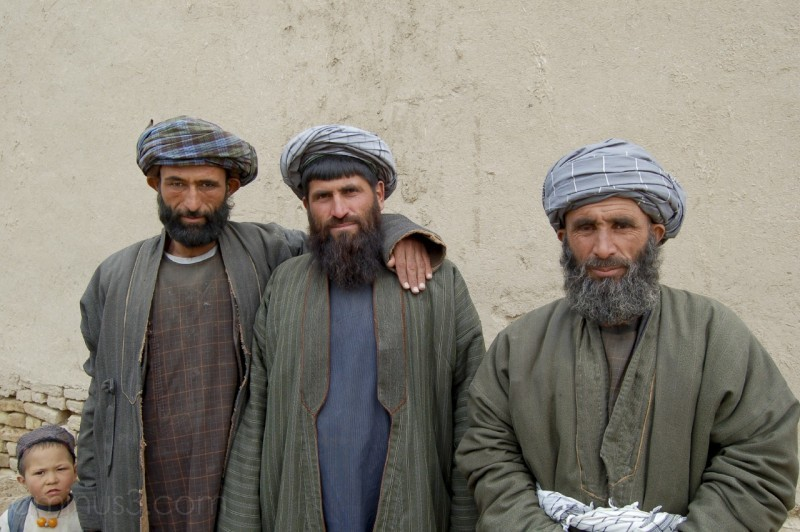 Men from the 'Arab' Tribe pose for a picture