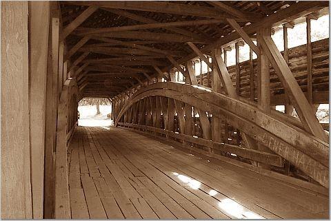 Inside the covered bridge :)